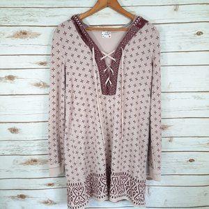 Intimately Free People Lace Up Tunic Sweater Dress